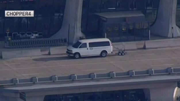 Van Causes Scare at Dulles International Aiport