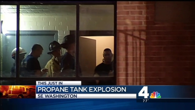 Propane Tank Explodes in D.C. Apartment Building