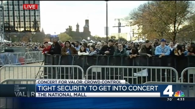 Concert for Valor: Security Checkpoints in Place