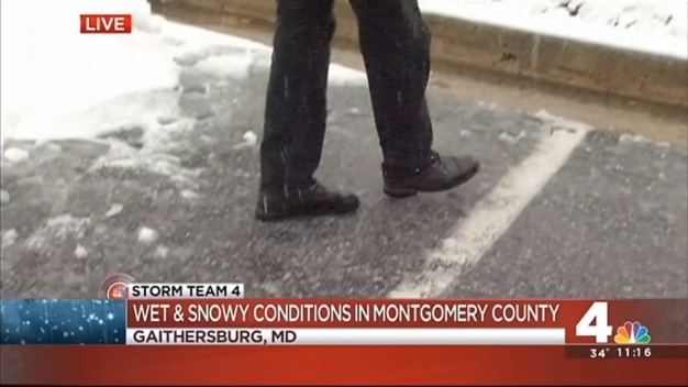 Wintry Mix Makes Mess of Montogmery Co. Roads