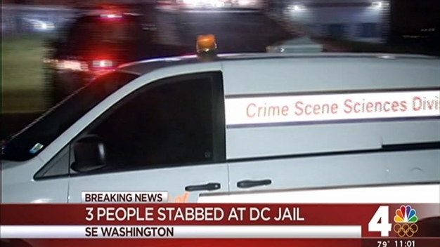 3 Hurt in Stabbing at DC Jail