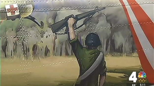 Chopper Shot Down in Vietnam Becomes Art at Marine Museum