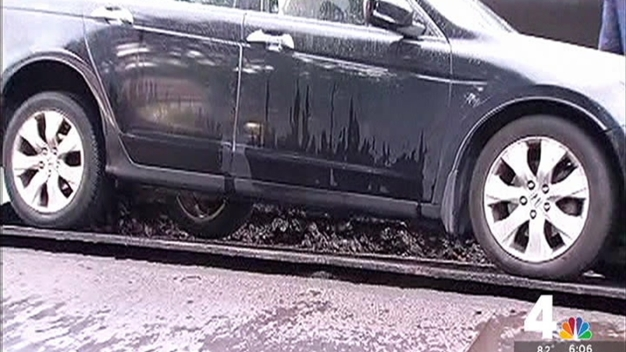 Car Falls in Hole Covered by Steel Plate in DC