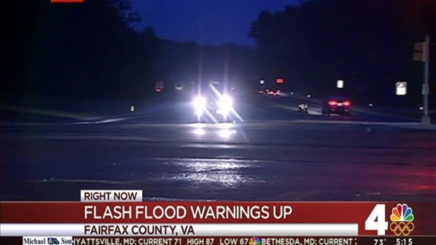 Fairfax Road Reopens After Flash Flooding