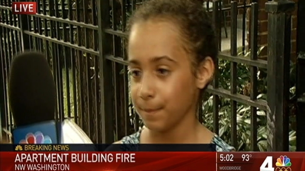 DC Apartment Building Catches Fire