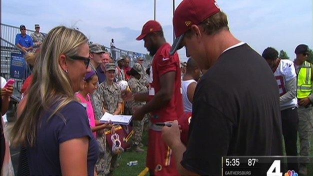 Redskins Practice at Joint Base Andrews