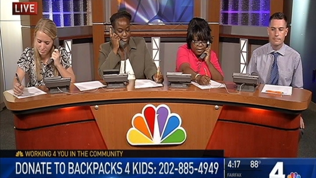 NBC4 Raises Money for Backpacks 4 Kids