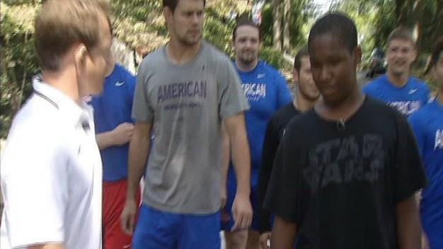 Duquar Visits American University's Wrestling Team