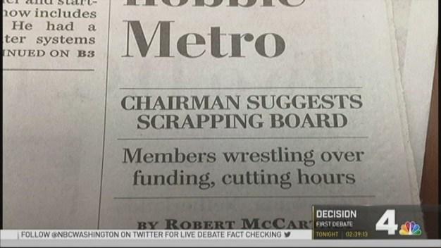 Metro Chairman Wants to Shakeup Board