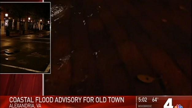 Heavy Rain Floods Old Town Alexandria