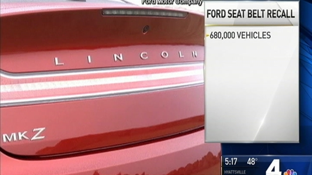 Ford Recalls 680,000 Seat Belts