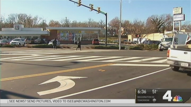 Surveillance Video Shows SUV Hitting Alexandria Pedestrian in Crosswalk