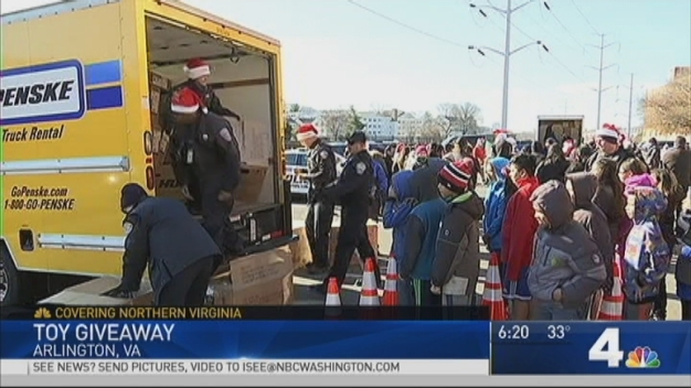 Santa Makes Special Visit to Arlington