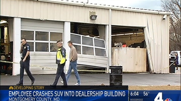 Car, SUV Crash Into Rockville Dealership Building