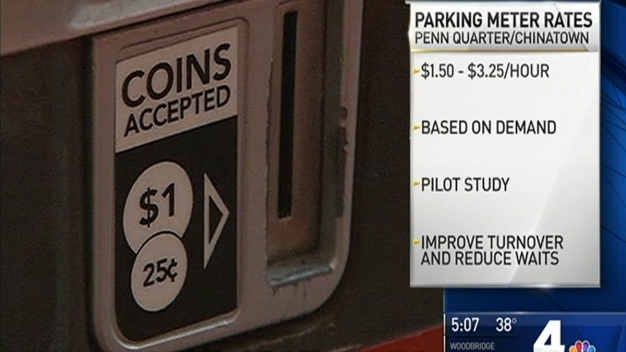 On-Demand Parking Could Increase Meter Prices in Parts of DC
