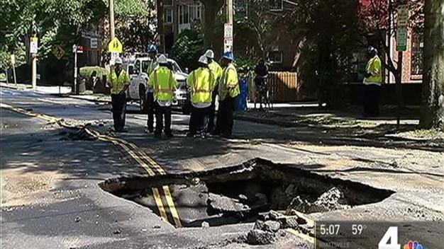Repairs Continue on Road Damaged by Water Main Break