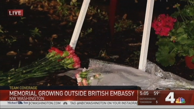 Memorial for Manchester Victims Growing at British Embassy