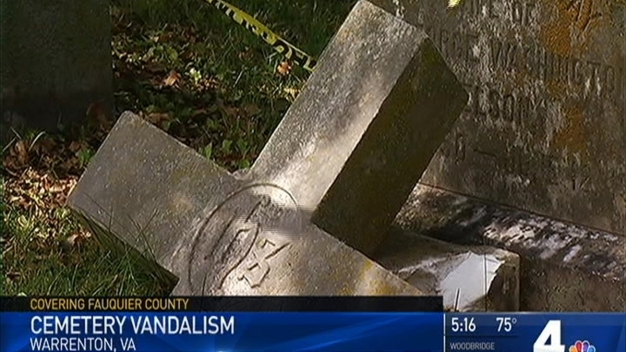 Cemetery Collects Donations to Repair Damage From Vandals