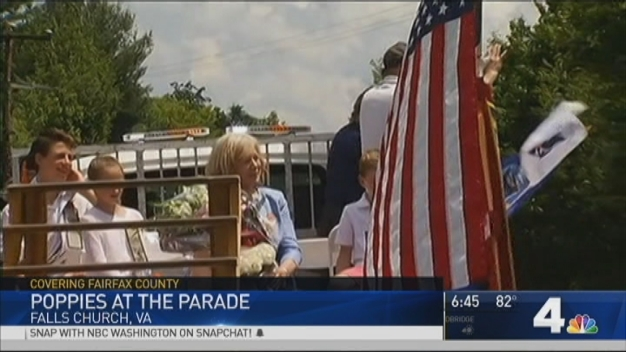 Poppies Pop Up at Falls Church's Annual Memorial Day Parade