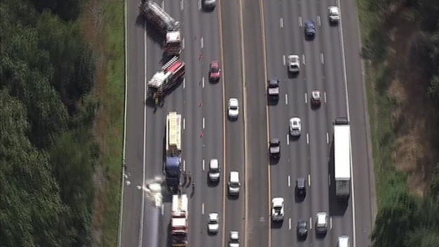 Chopper4 Live Over Beltway Crash