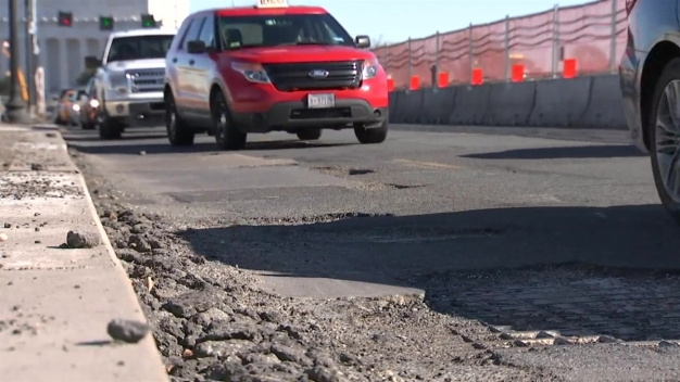 Cold Weather Opening Up Potholes on DC Area's Busiest Roads}