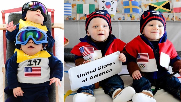 Baby Twins Dress Up as American Olympic Heroes on Instagram