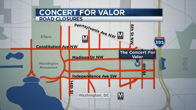Concert for Valor: Road Closures and Metro Changes