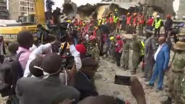 Raw: Woman Rescued 6 Days After Building Collapse