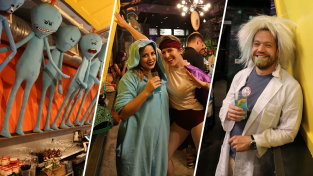 A Look Inside the Now-Shuttered 'Rick and Morty' Pop-Up Bar