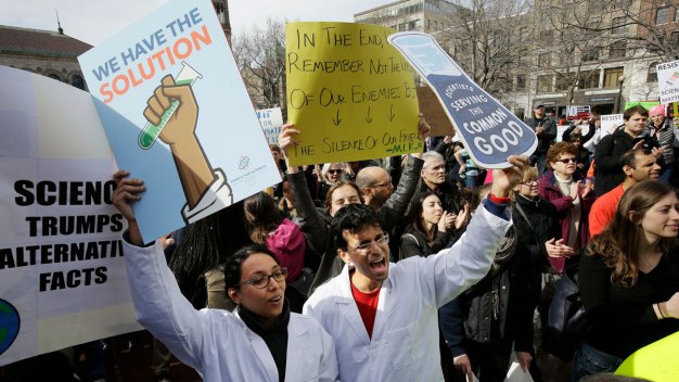 Scientists Rally in Boston to Highlight Threats to Science
