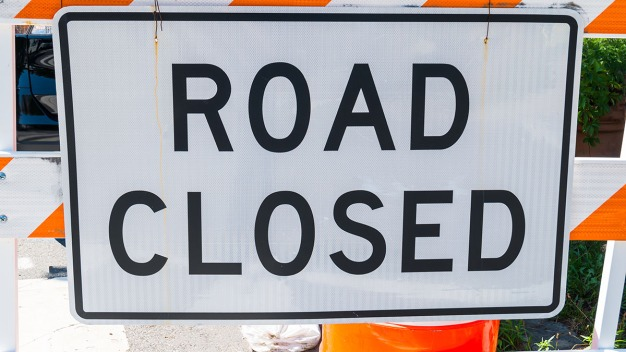 Memorial Day Weekend Road Closures, Day-by-Day