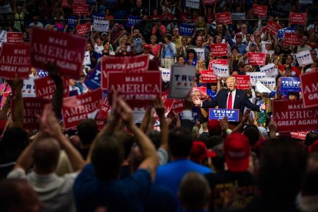 Sherwood's Notebook: A Trump Crowd Up Close