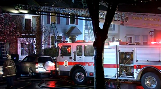 [DC]2-Alarm Fire Guts Md. Townhome