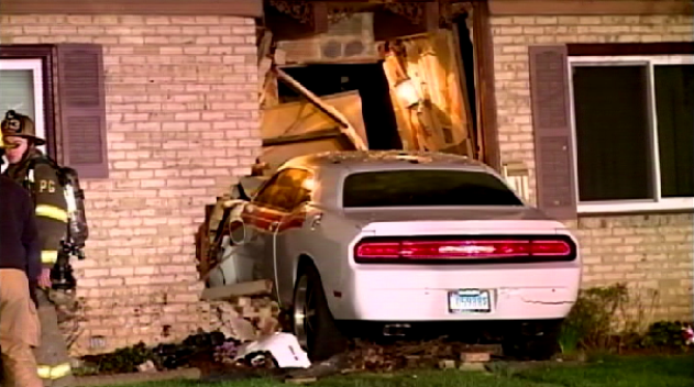 Car Crashes Through Front Door of Glenarden Home