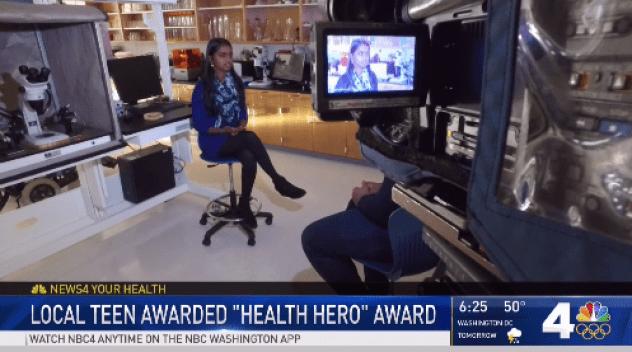 Local Teen Awarded Health Hero Award