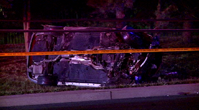 1 Dead After Vehicle Crashes Into Pole, Flips in Md.