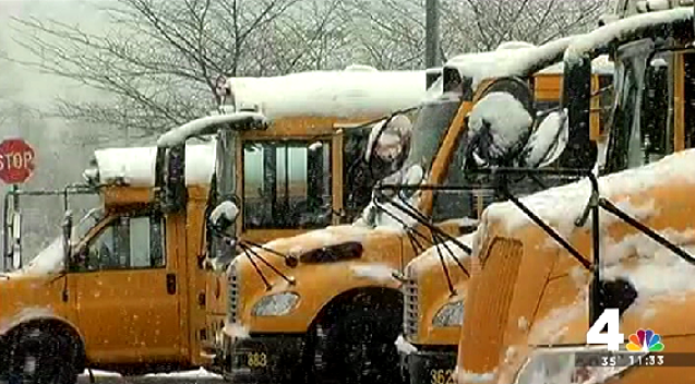 Snow, Rain Mix Closes Schools in Loudoun County