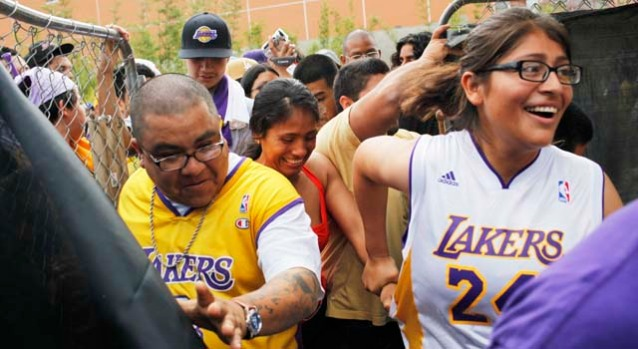 June 17, 2009: LA Celebrates Lakers Championship