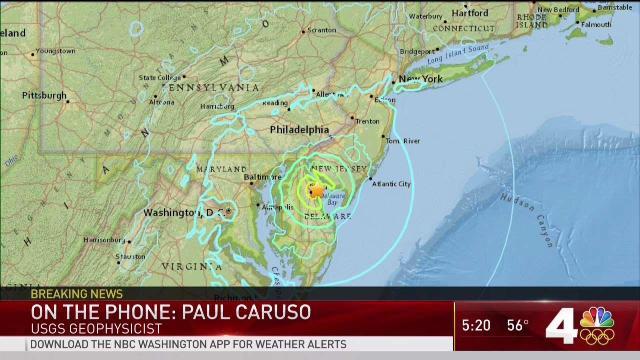 4 1 Magnitude Earthquake Rumbles DC Area   NBC4 Washington