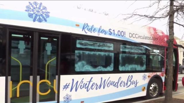 Winter Wonder Bus Making Trips on All DC Circulator Routes
