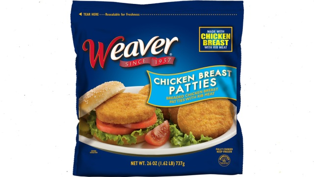 Tyson Foods Recalls 39K Pounds of Frozen Chicken Patties