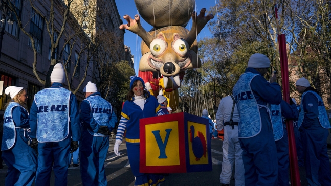 Balloons Fill the Air at 91st Annual Macy's Thanksgiving Day Parade