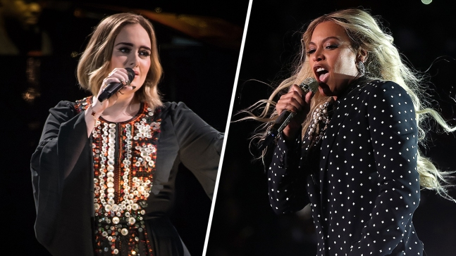 Beyonce, Adele Nominated for Top 3 Grammy Awards