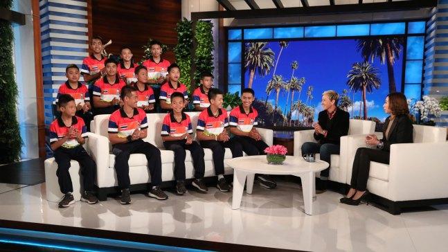 Rescued Thai Soccer Team Sits Down With Ellen
