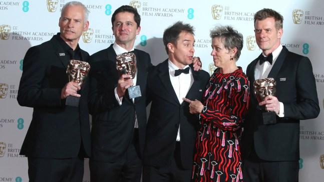'Three Billboards' Wins, Women Make Waves at UK film Awards<br />