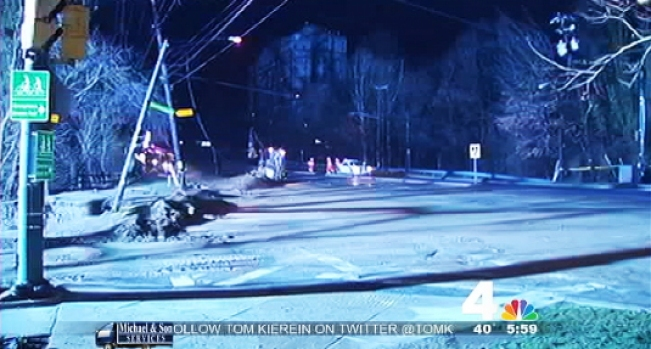 [DC] Power Lines Topple and Flash at Water Main Break