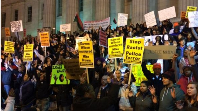 Hundreds of Ferguson Protesters March in Downtown D.C.