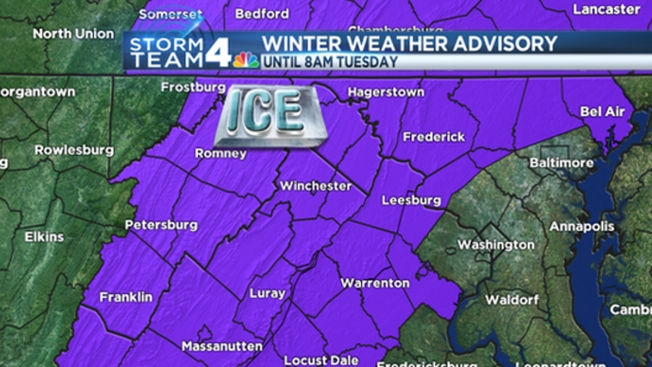 Winter Weather Advisory in Effect for Areas West of I-95; Some Schools Closed, Delayed