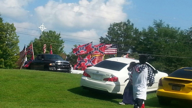 White Rebel Flag Carriers Face Gang Charge For Crashing Black Party