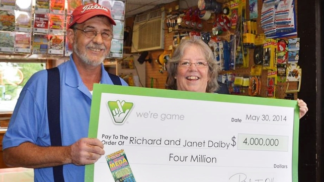 Stafford Couple Wins $4 Million Scratch-Off Prize, Plan to Pay off Mortgage and Go Out to Dinner